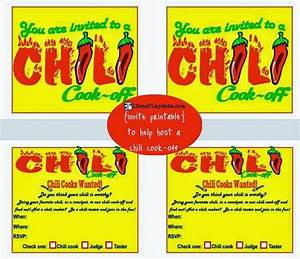 Chili Cook Off Certificate Template Hosting A Chili Cook Off In 5 Easy Steps With Printables