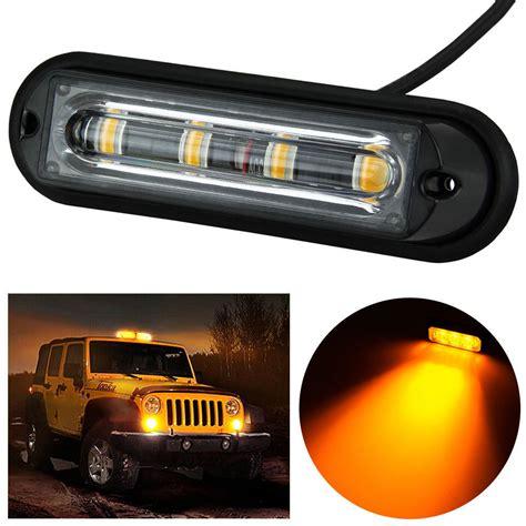 emergency lights for cars 4 led car truck rv emergency beacon flash light bar hazard