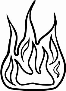 Black And White Fire Clipart | Free download best Black ...