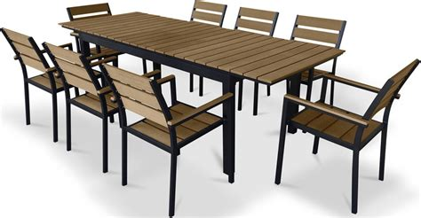 furnishing 9 polywood outdoor patio dining set