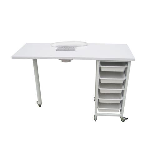 table pliante avec rangement chaise dust collectors nails absor manicure table salon