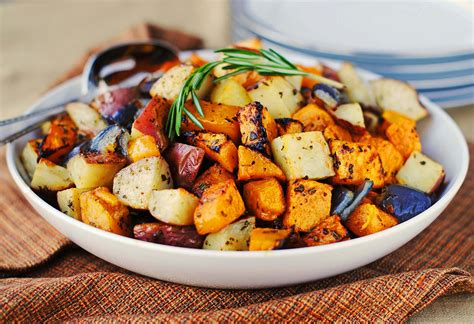 Roasted Butternut Squash, Onions, And Red Potatoes With