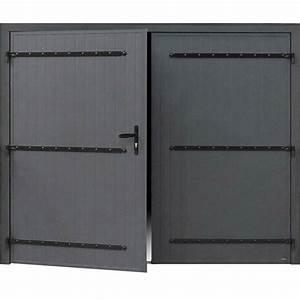 porte de garage battante manuelle artens essentiel h200 x With porte battante garage