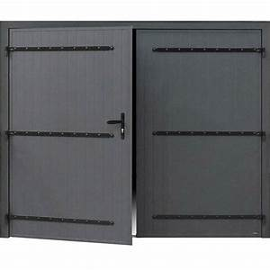 porte de garage battante manuelle artens essentiel h200 x With porte de garage battante
