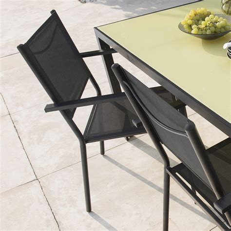table 6 chaises emejing table et chaise de jardin noir ideas awesome