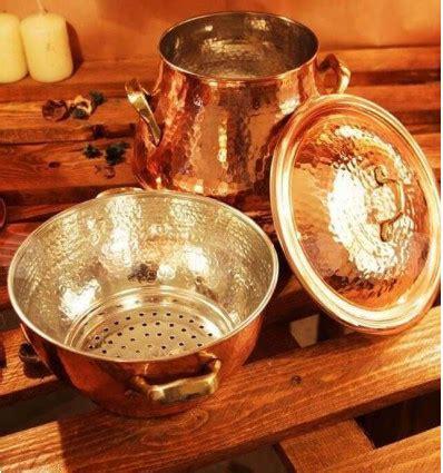 hammered copper steamer pot couscous pot steamer pot