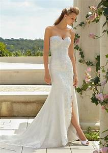 new arrival lace mermaid wedding dress with split front With wedding dress with split