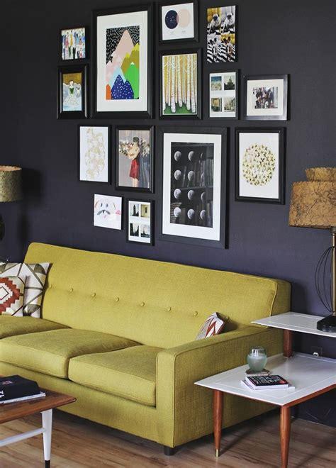 wall art above sofa create an eye catching gallery wall