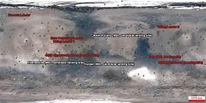 NASA Mars Landings Map - Pics about space