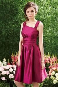 robe de cocktail rose fuchsia asymetrique courte en With robe de taffetas