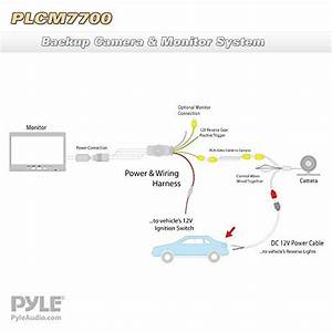 Pyle Plcm7700 Vehicle Car Van Jeep Rear View Backup Camera