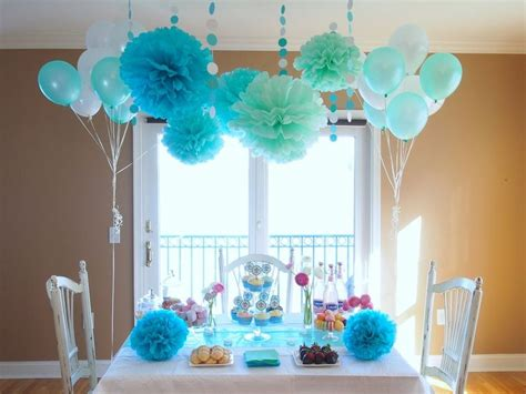 And Blue Birthday Decorations - bridal shower in blue decor blue