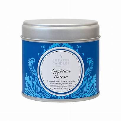 Candles Egyptian Cotton Tin Candle Scented