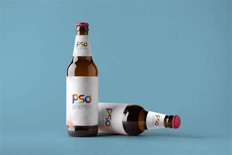 beer bottle mockup  psd psd graphics