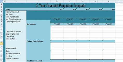 5 year financial projection template get 5 year financial projections template xls free excel spreadsheets and templates