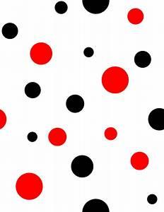 Red And Black Polka Dots Clip Art at Clker.com - vector ...
