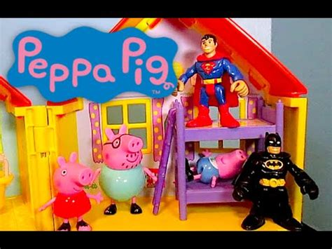 superman peppa pig and peppa pig parody video bed time story with batman