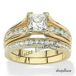 wedding rings ebay 14k gold plated wedding ring sets collection on ebay