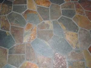 Slate floors sunroom ideas pinterest stone kitchen for How to install stone tile flooring