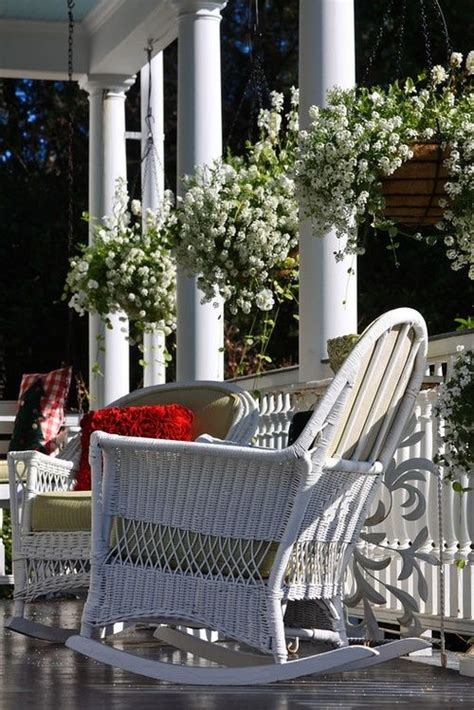 front porch southern style outdoor living