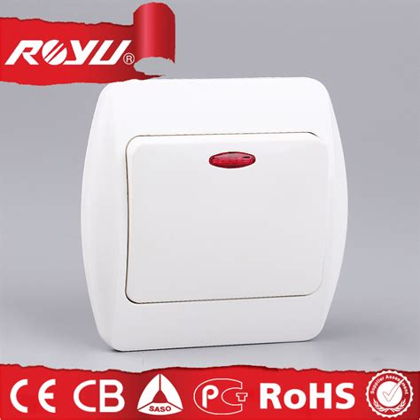 electric wall switch with led indicator light abs material