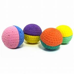 Balle Pour Chat : lot de 4 balles ponge balle pour chat wanimo ~ Teatrodelosmanantiales.com Idées de Décoration