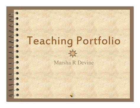 Educational Portfolio Template by Teaching Portfolio M 2008