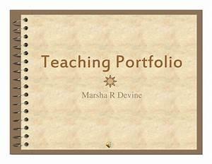 teaching portfolio m devine 2008 With teaching portfolio template free