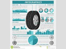 Tire Infographic Set stock vector Illustration of