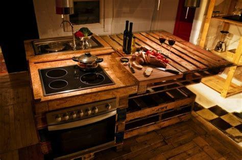 cuisine en palette meuble en palette pour cuisine