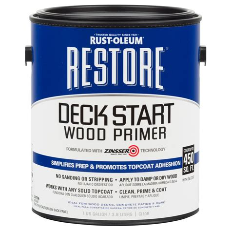 rust oleum restore  gal deck start wood primer
