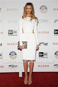 Rosie Huntington Whiteley White Cocktail Party Dress 2011