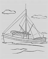Coloring Onlineafrica Fishing Boat sketch template