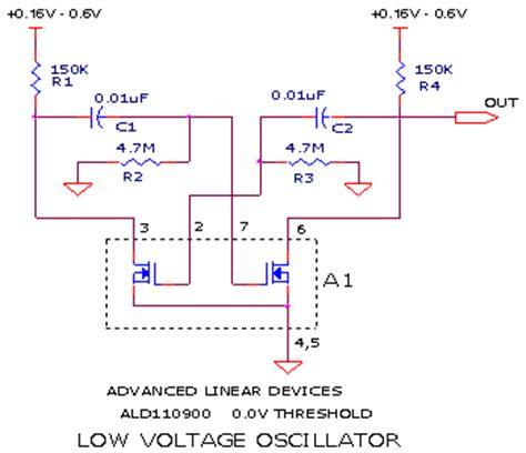 Very Low Voltage Oscillator Circuit Signal Processing