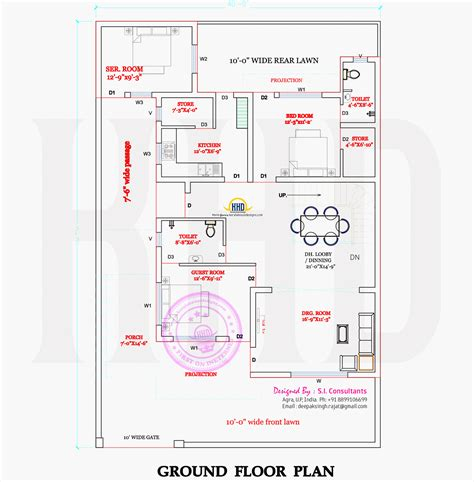floor plans modern indian house in 2400 square kerala home
