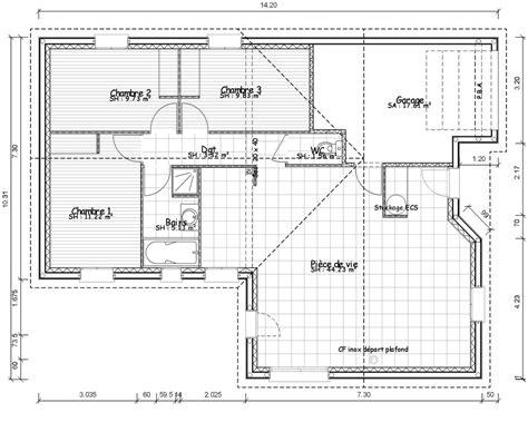 plan de maison plain pied 4 chambres gratuit plan de maison contemporaine de plain pied plans maisons