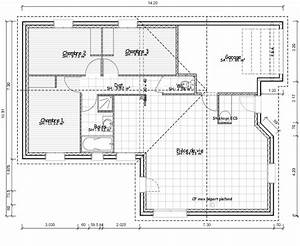 plan de maison rectangle gratuit plans maisons With plan de maison plain pied 100m2