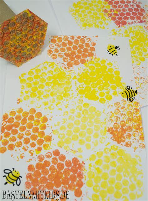 bastelideen sommer kindergarten bienenwaben basteln mit kindern und kleinkindern basteln mit kindern kindergarten basteln