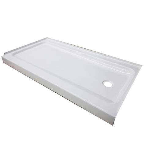 Shower Pans - bootz industries showercast plus 60 in x 32 in single