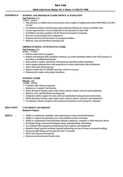 Clerical Resume Template by Clerical Resume Sles Eezeecommerce