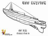 Submarine Coloring Pages War Uss Batfish Navy Printable Boss Yescoloring sketch template