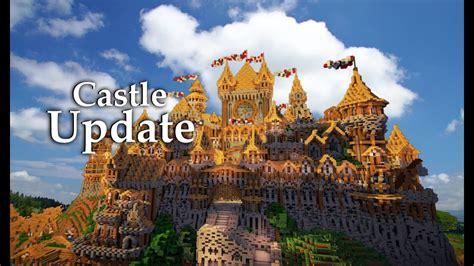 minecraft huge medieval castle update  youtube