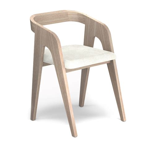Chaise Chene Blanc Design Scandinave SalomÉ Audrey Savelon
