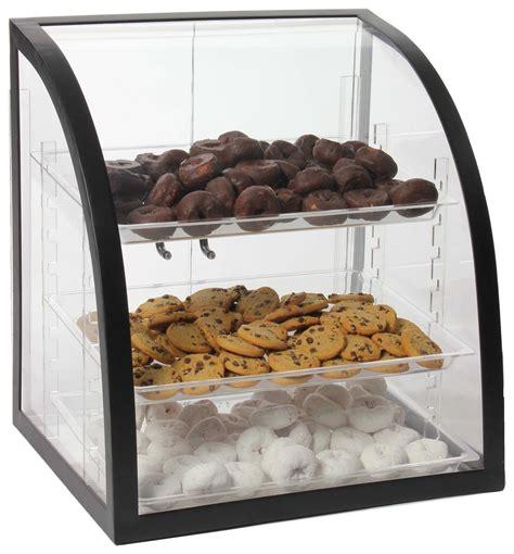 acrylic bakery display  removable trays metal frame
