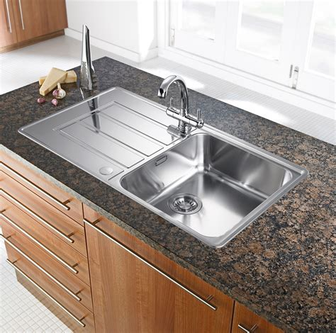 sink kitchen franke alpina 1 0 bowl silk stainless steel kitchen sink
