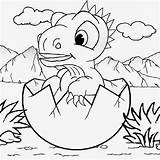 Dinosaur Baby Cute Egg Coloring Pages Kindergarten Printable Cretaceous Dino Drawing Mountain Volcano Dinosaurs Cartoon Kid Playschool Classes Volcanic Emerging sketch template