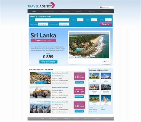Webs Site Templates Free Travel Agency Website Template Travel Website