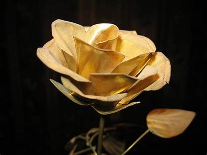 Rose Gold Wallpapers Flowers Golden Background Roses