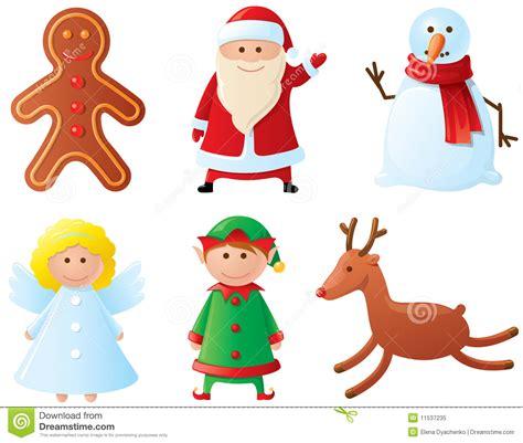 christmas characters royalty free stock photo image