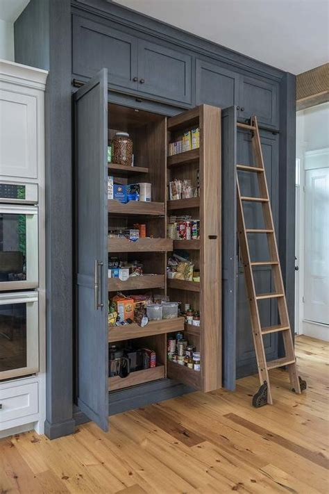 floor  ceiling pull  pantry cabinet transitional kitchen